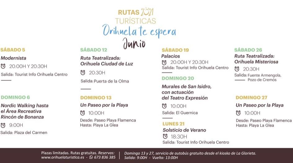 Nuevas rutas turísticas en Orihuela y en su costa en el mes de junio 6