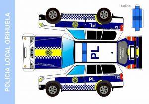 Recortables de vehículos de Protección Civil y Policía Local de Orihuela para los más pequeños 7
