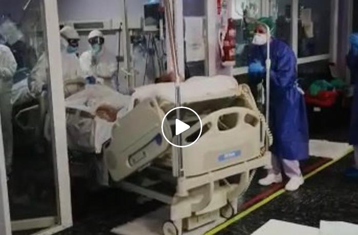 Segunda salida de la UCI de un paciente con coronavirus en el Hospital Vega Baja 6