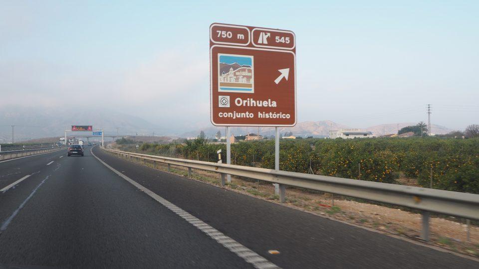 La clásica estampa de Orihuela ya puede verse desde la autovía 6