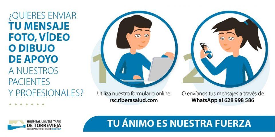 El Hospital de Torrevieja habilita un número de Whatsapp para mensajes de apoyo 6
