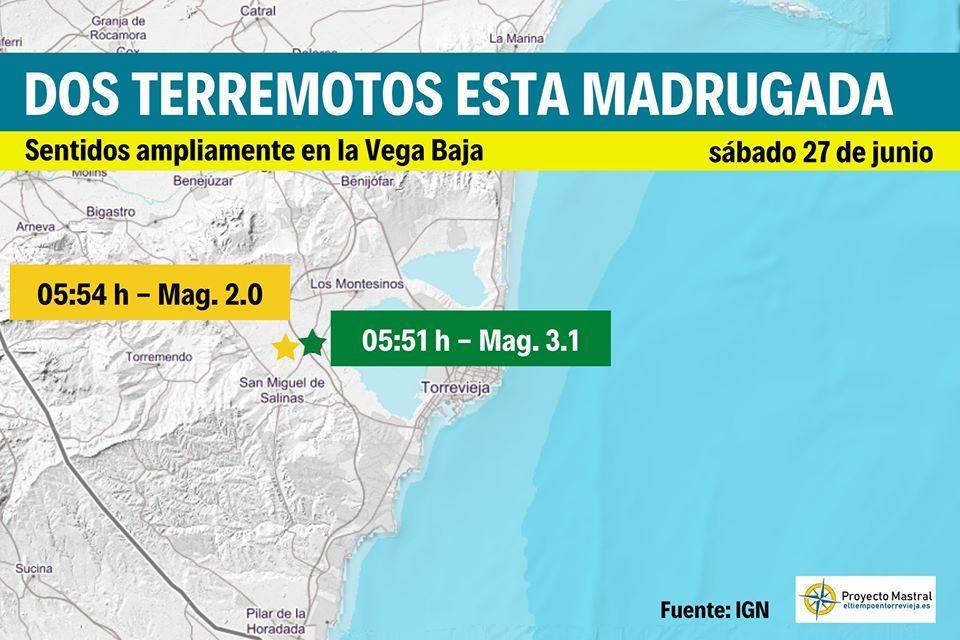 Sobresalto de madrugada con dos terremotos en San Miguel de Salinas 6