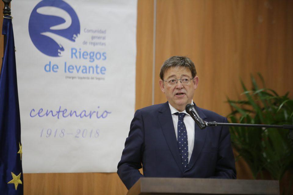"""Puig aboga por un """"gran acuerdo"""" estatal para garantizar el agua para la agricultura 6"""