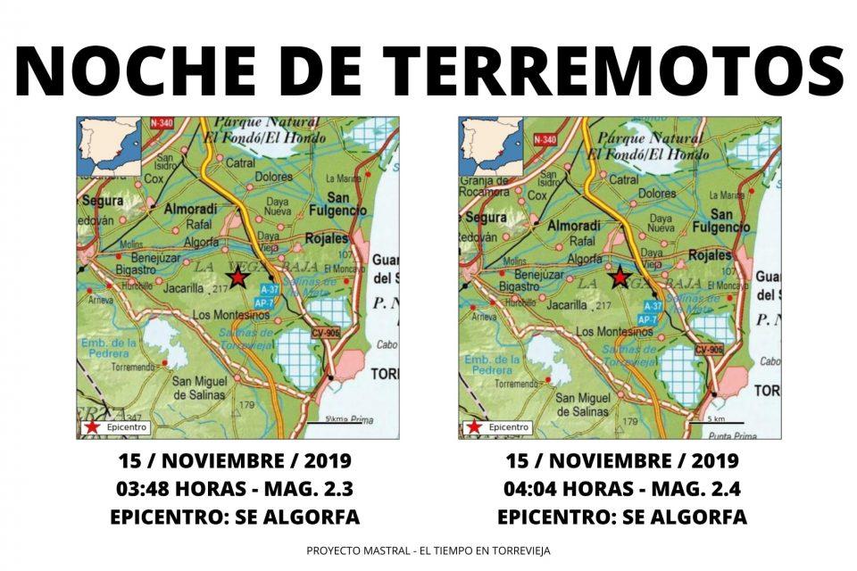 Algorfa sufre dos terremotos durante la madrugada 6