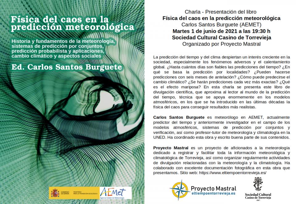Torrevieja acogerá la presentación del libro 'Física del caos en la predicción meteorológica' 6