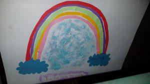Los niños y niñas de la Vega Baja combaten la cuarentena con arcoíris 7