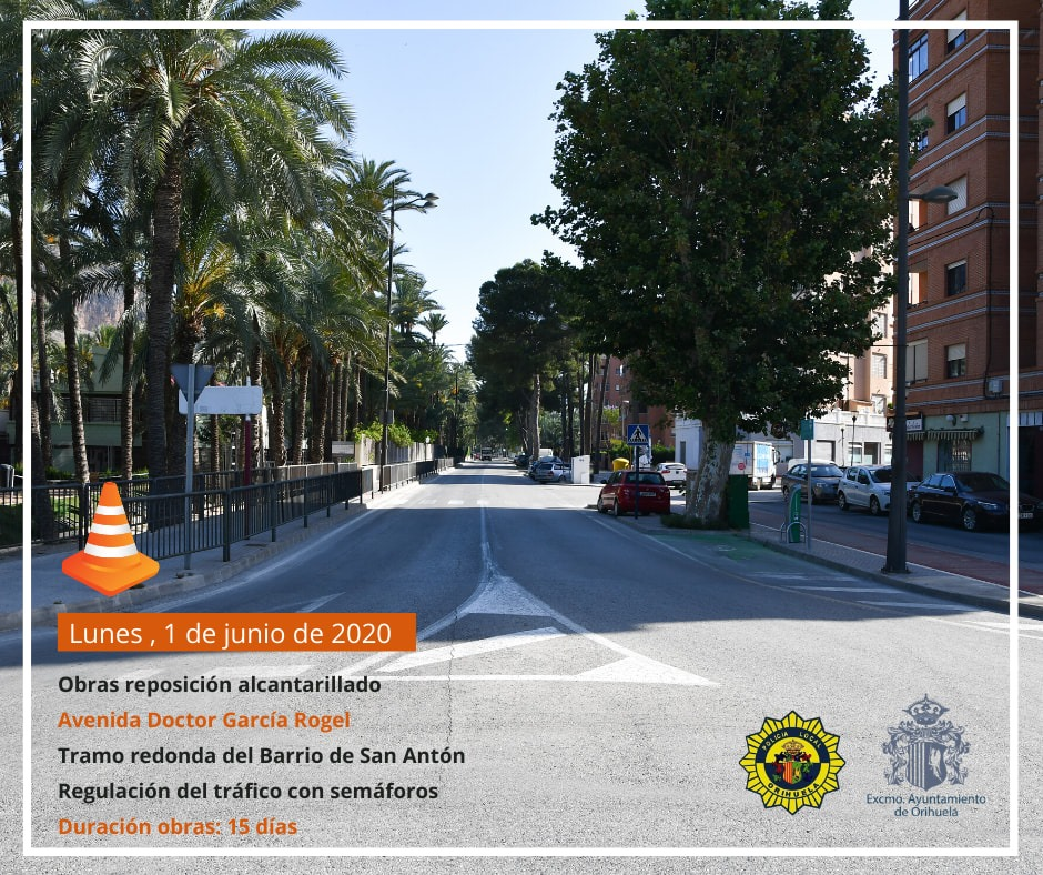 Este lunes empiezan las obras en el alcantarillado de la Avenida Doctor García Rogel 6