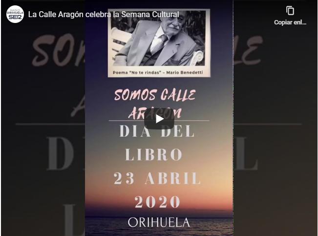 La calle Aragón de Orihuela celebra el Día del Libro en la Semana Cultural 6