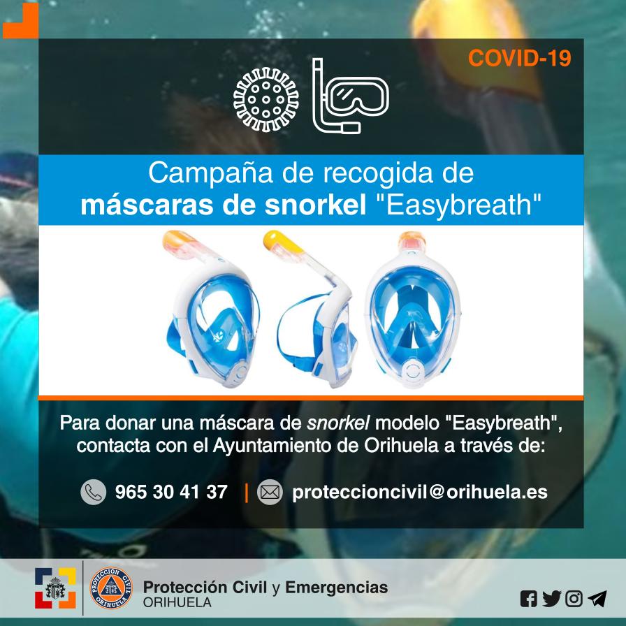 """El Ayuntamiento de Orihuela impulsa la recogida de máscaras de snorkel """"Easybreath"""" 6"""