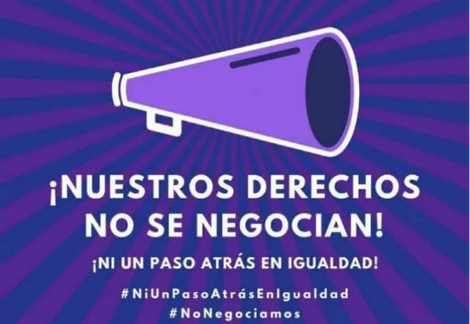 """La Plataforma Feminista Vega Baja organiza la concentración """"¡Nuestros derechos no se negocian!"""" 6"""