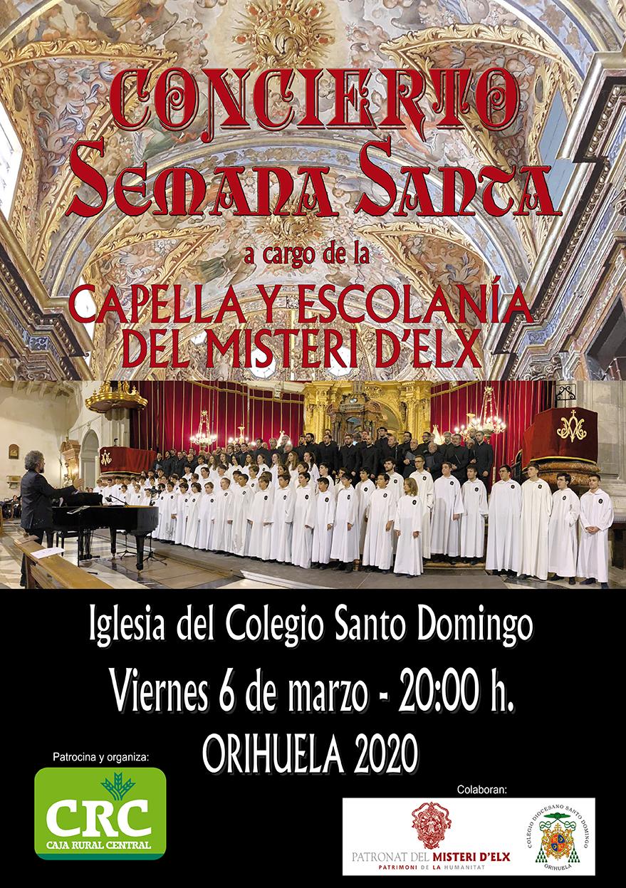 La Iglesia de Santo Domingo de Orihuela acogerá un concierto de Semana Santa este viernes 6