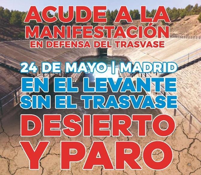 Gran manifestación en Madrid en defensa del Trasvase el 24 de mayo 6