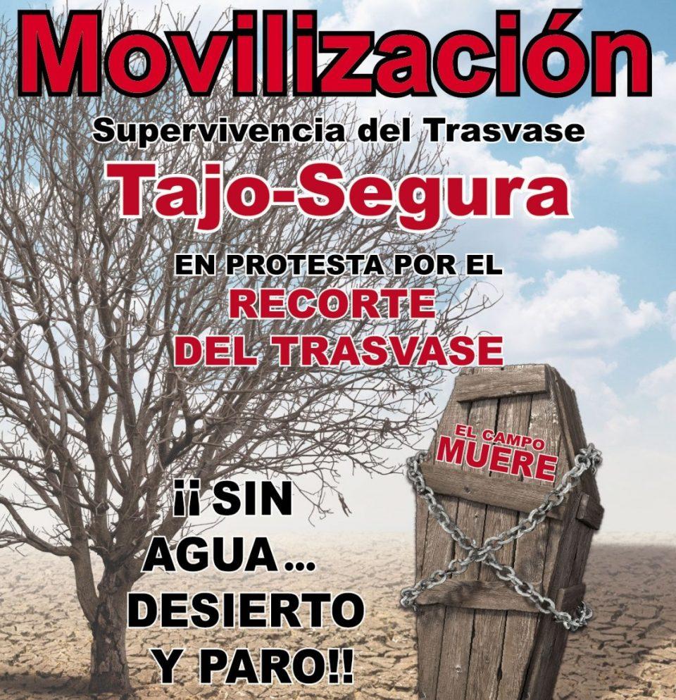 Orihuela, escenario de la gran tractorada contra el recorte del Trasvase este sábado 6