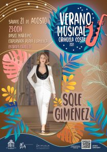 La cantante Sole Giménez actuará este sábado en Playa Flamenca 7