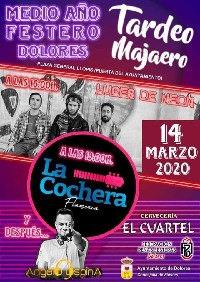 """Luces de Neón, La Cochera y Ángelo Spina DJ actuarán en el """"Tardeo Majaero"""" de Dolores 6"""