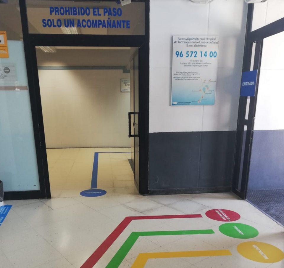 El Dpto. de Salud de Torrevieja implanta un sistema de códigos de color para dirigir el flujo de los pacientes 6