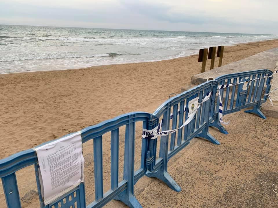 El coronavirus cierra las playas de Guardamar, Torrevieja, Orihuela y Pilar de la Horadada 6