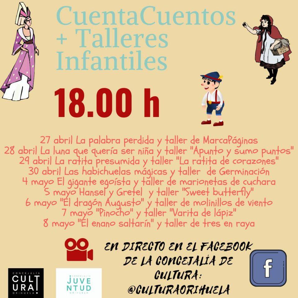 Cuentacuentos y talleres infantiles en el Facebook de Cultura Orihuela 6