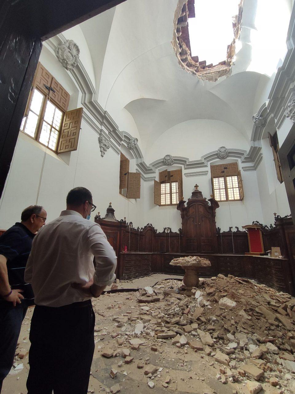 Se derrumba la sacristía de la Iglesia Santas Justa y Rufina de Orihuela 6