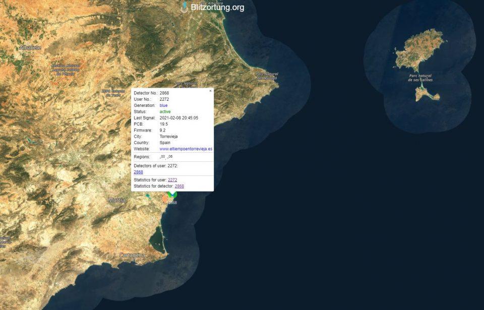 Proyecto Mastral instala el primer detector de rayos en la Vega Baja 6