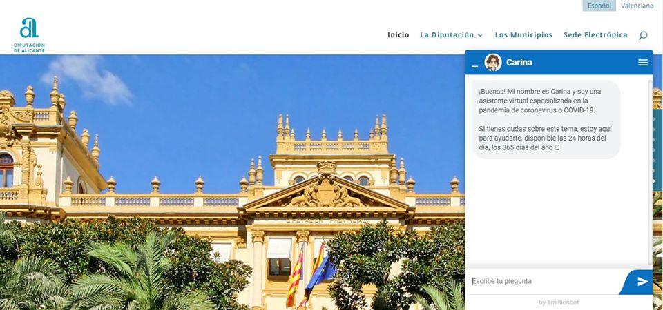 La Diputación habilita en su web un asistente virtual sobre el COVID-19 6