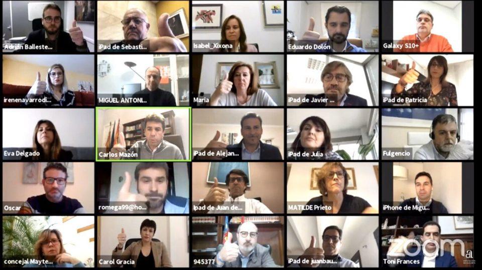 Unanimidad a las ayudas a municipios por el coronavirus en el pleno virtual de Diputación 6