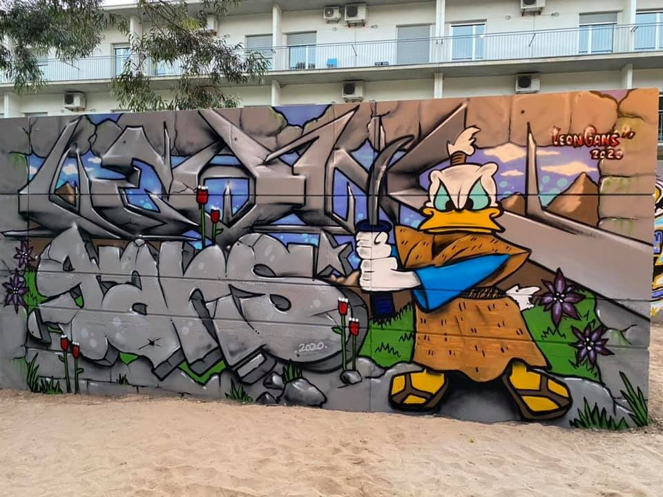 Arte graffiti en el Parque Reina Sofía de Guardamar 6
