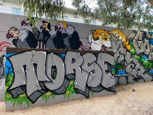 Arte graffiti en el Parque Reina Sofía de Guardamar 7