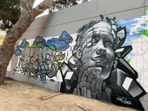 Arte graffiti en el Parque Reina Sofía de Guardamar 8