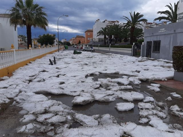 Impresionante granizada en Torrevieja 6