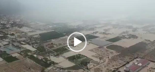 Orihuela vista desde el aire en un helicóptero de la UME 6