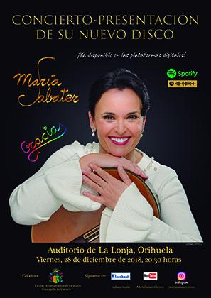 """""""La Lonja"""" acoge la presentación del disco de la cantante oriolana María Sabater 6"""