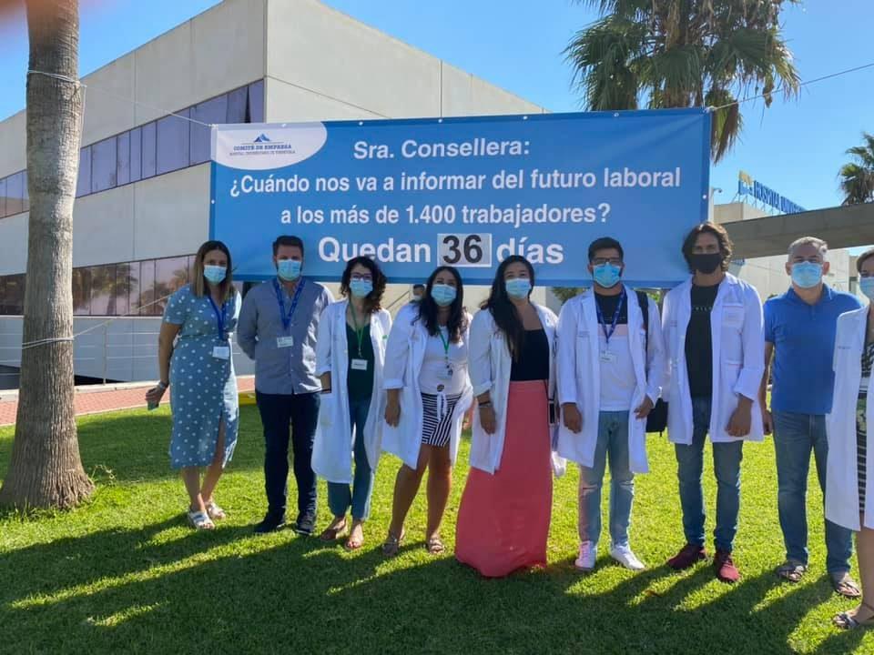 Sigue la incertidumbre para los trabajadores del departamento de Salud de Torrevieja 6