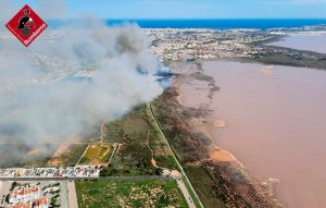 Incendio importante en el Parque Natural de Las Lagunas de Torrevieja 7