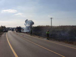 Esto es lo que pasa cuando lanzas una colilla: 200m2 incendiados en San Fulgencio 8