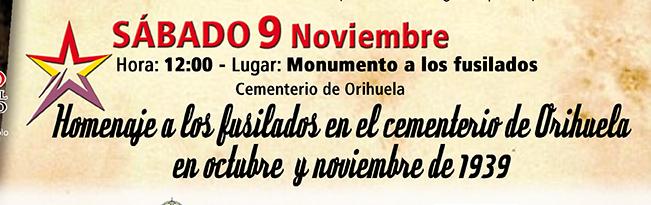 Este sábado se celebra en Orihuela el homenaje a los fusilados de 1939 6