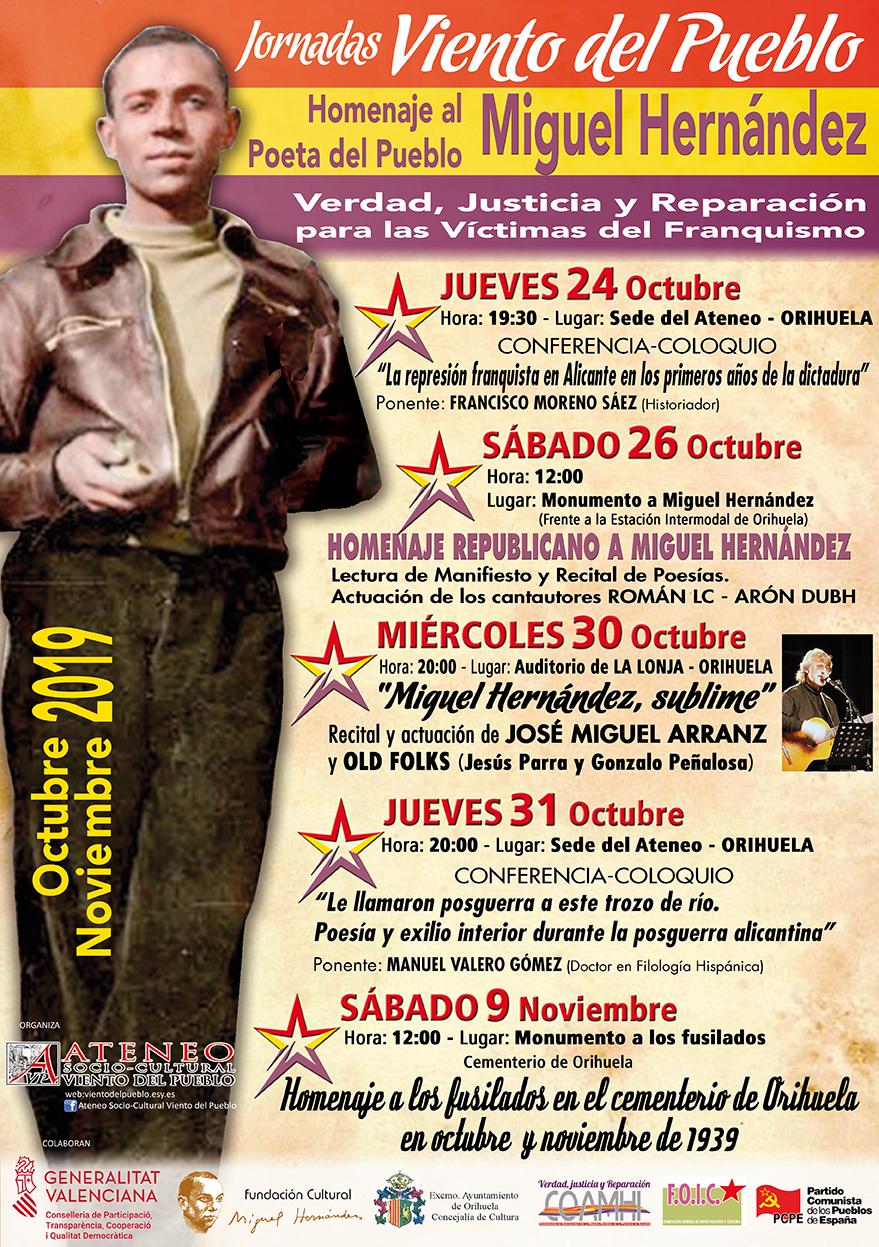 Homenaje a Miguel Hernández entre octubre y noviembre con unas jornadas 6