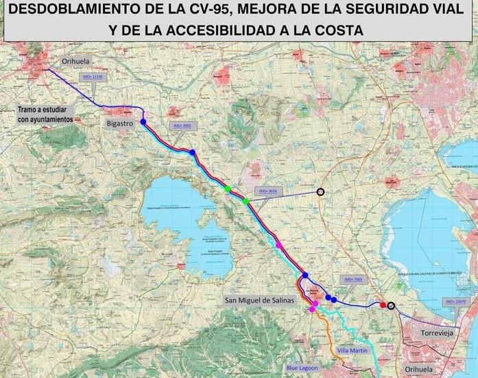 Puig anuncia el desdoblamiento de la CV 95 y el estudio de viabilidad del tren de la costa 6