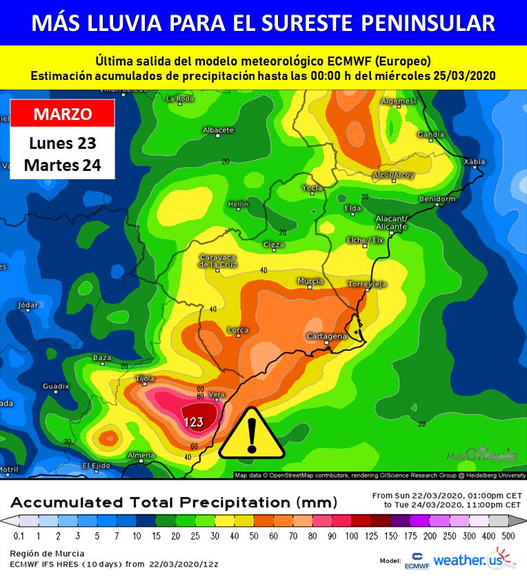 Las precipitaciones persistentes nos acompañarán hasta el martes 6
