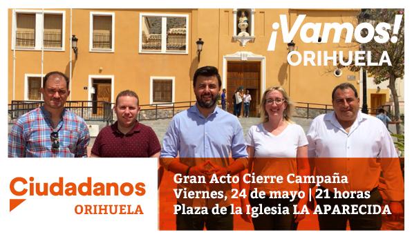 Ciudadanos Orihuela elige La Aparecida para el acto de cierre de campaña 6