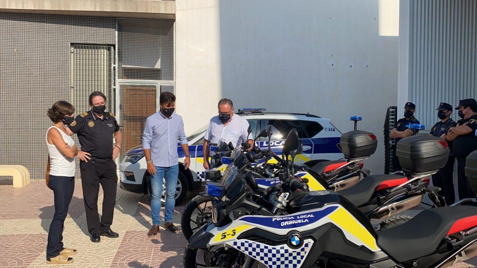 Cuatro motocicletas amplían el parque móvil de la Policía Local de Orihuela 6
