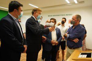 Puig renueva el espíritu de cooperación con Jaén en la visita al legado de Miguel Hernández 7