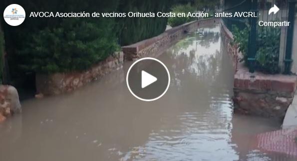 """Los vecinos de Orihuela Costa califican de """"chapuza"""" la solución de Noguera a los problemas de inundaciones 6"""