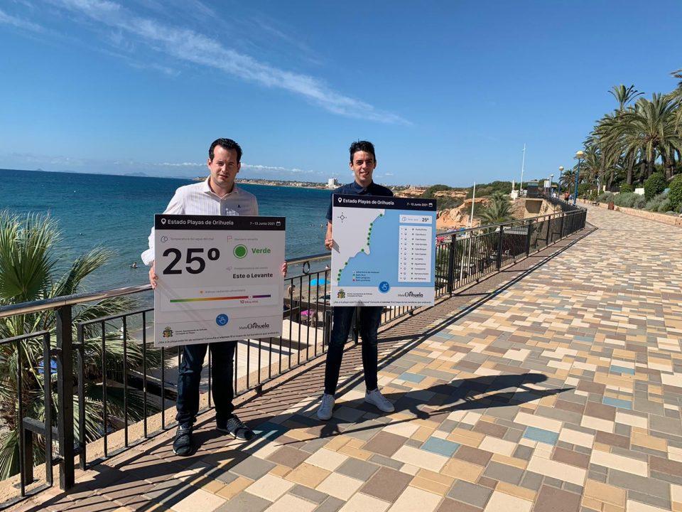 La previsión del estado de la mar, un nuevo servicio para los usuarios de las playas de Orihuela 6