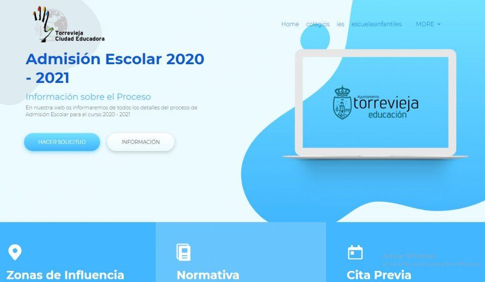 El Ayuntamiento de Torrevieja habilita una web para el proceso de admisión del próximo curso escolar 6