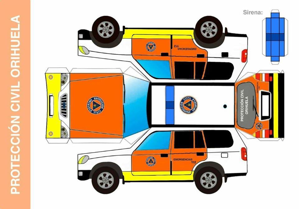 Recortables de vehículos de Protección Civil y Policía Local de Orihuela para los más pequeños 6