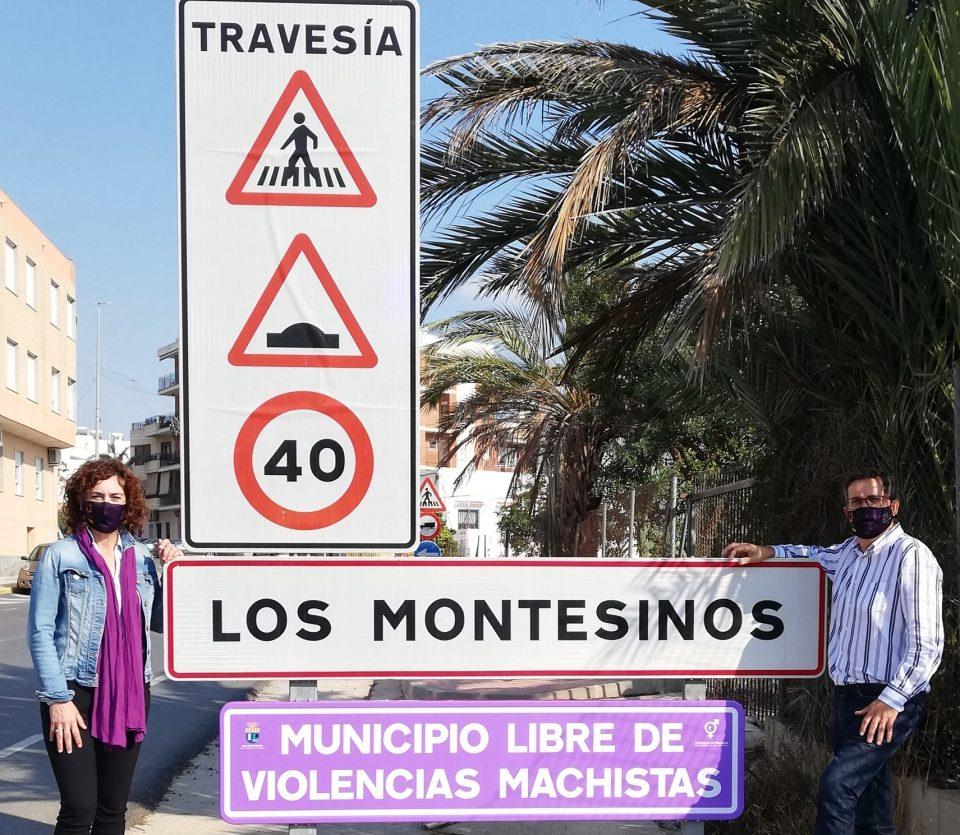 Los Montesinos estrena señalética que muestra el rechazo a cualquier tipo de violencia contra la mujer 6