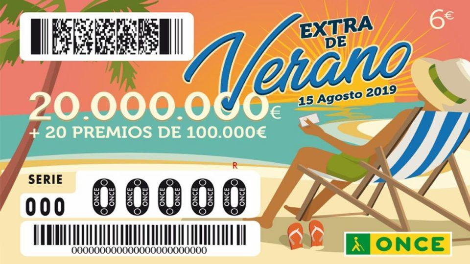 El Sorteo Extra de verano de la ONCE reparte 100.000 euros en la Comarca 6