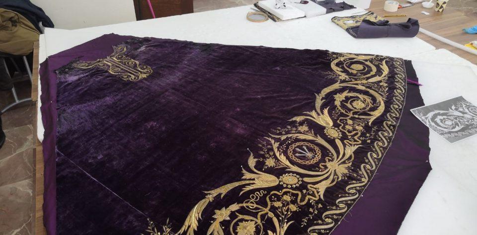 El taller del Museo de Arte Sacro de Orihuela restaura la túnica de Ntro. Padre Jesús de Cocentaina 6