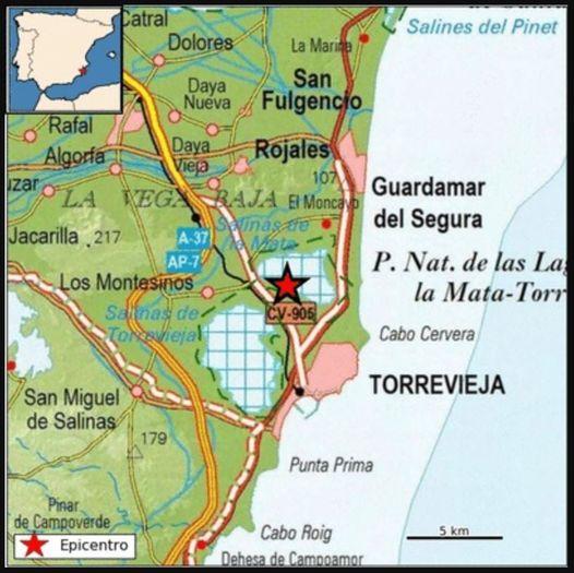 Terremoto de magnitud 2 en Los Montesinos 6
